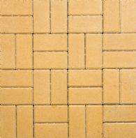 200x100x50mm THICK RECTANGULAR BLOCK PAVING, BUFF